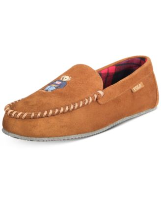 Polo Bear Faux-Suede Slippers