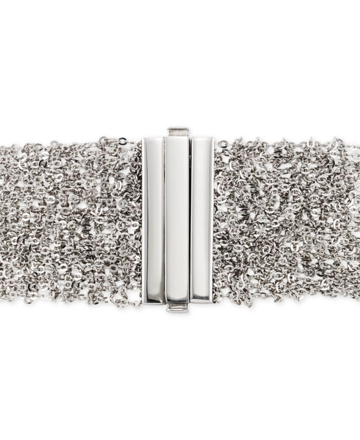Italian Gold Sparkle Statement Bracelet in 14k White Gold-Plated Sterling Silver & Reviews - Bracelets - Jewelry & Watches - Macy's