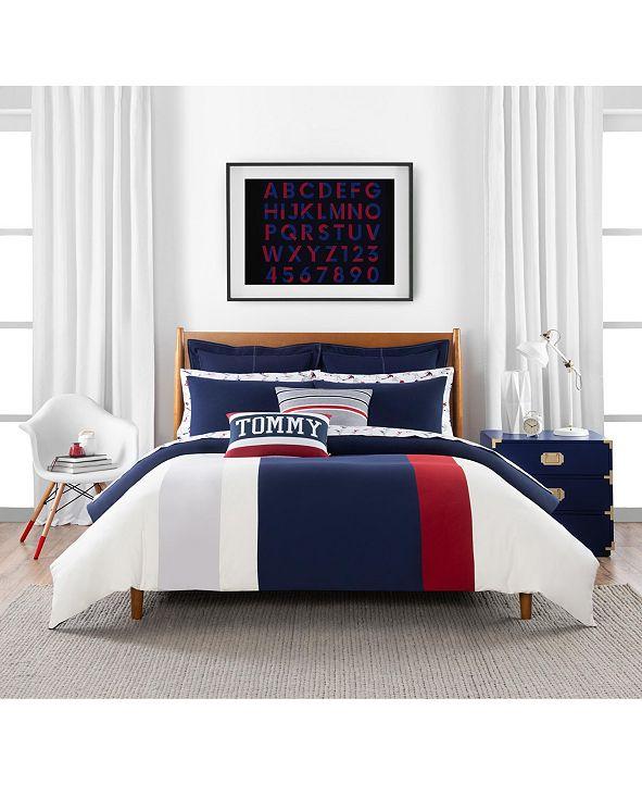 Tommy Hilfiger Clash of 85 Stripe 3 Piece Full/Queen Comforter Set