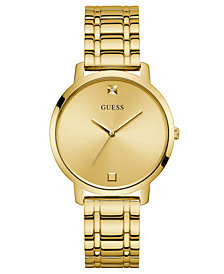 GUESS Diamond-Accent Gold-Tone Stainless Steel Bracelet Watch 40mm