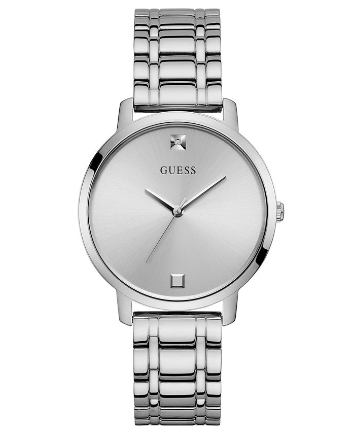 GUESS - Women's Diamond-Accent Stainless Steel Bracelet Watch 40mm