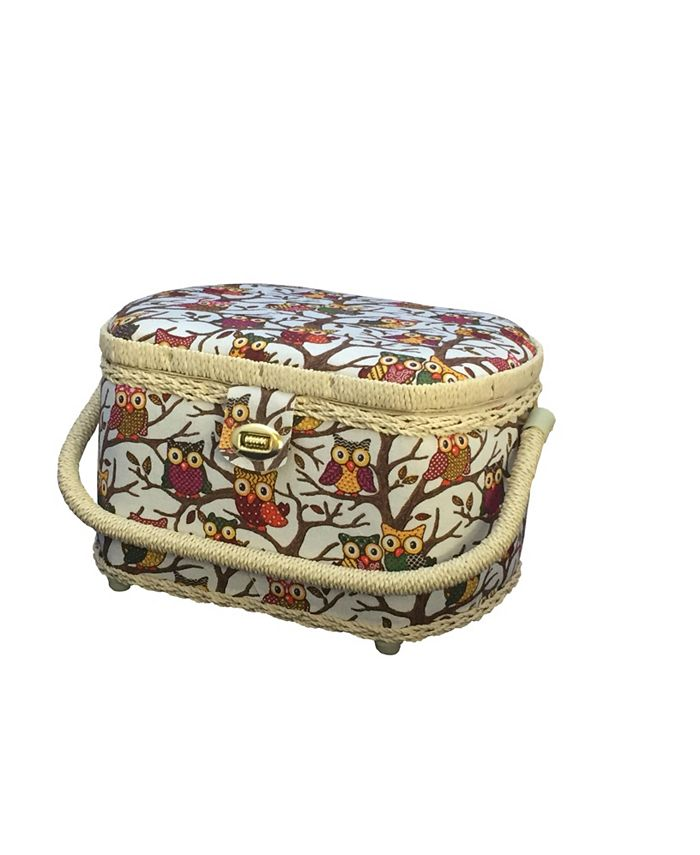Michley - FS-096 Owl Sewing Basket With Sewing Kit