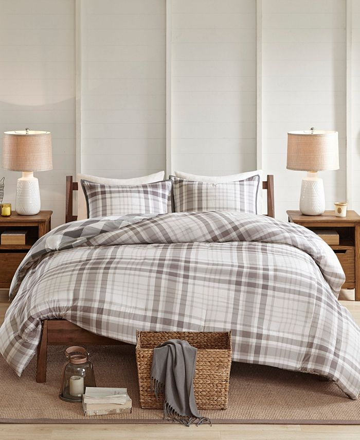 Madison Park - Sheffield 3 Piece Cotton Printed Reversible Duvet Cover Set