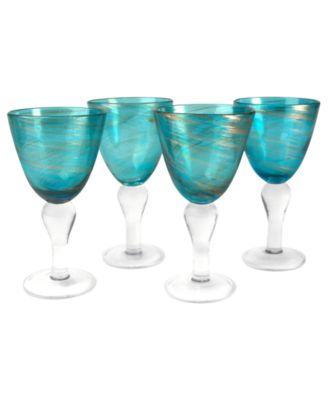 Artland Glassware, Set of 4 Shimmer Goblets