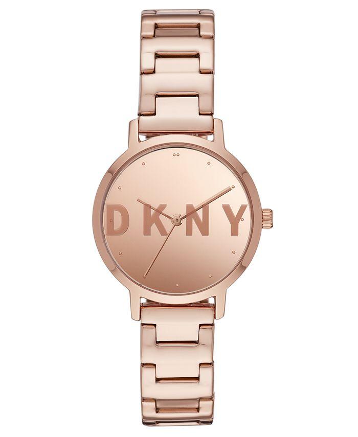 DKNY - Women's Modernist Rose Gold-Tone Stainless Steel Bracelet Watch 32mm