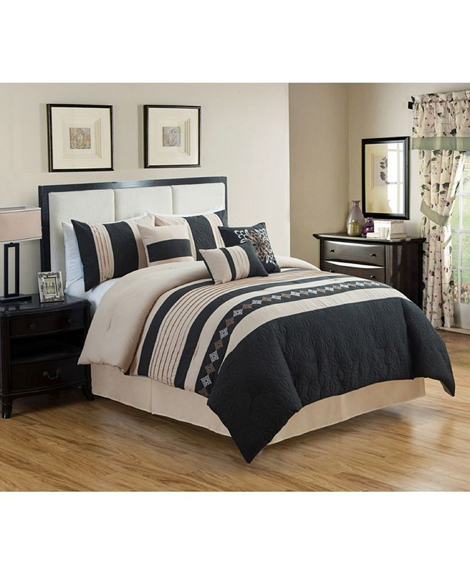 Luxlen Rachita 7 Piece Comforter Set, Cal King