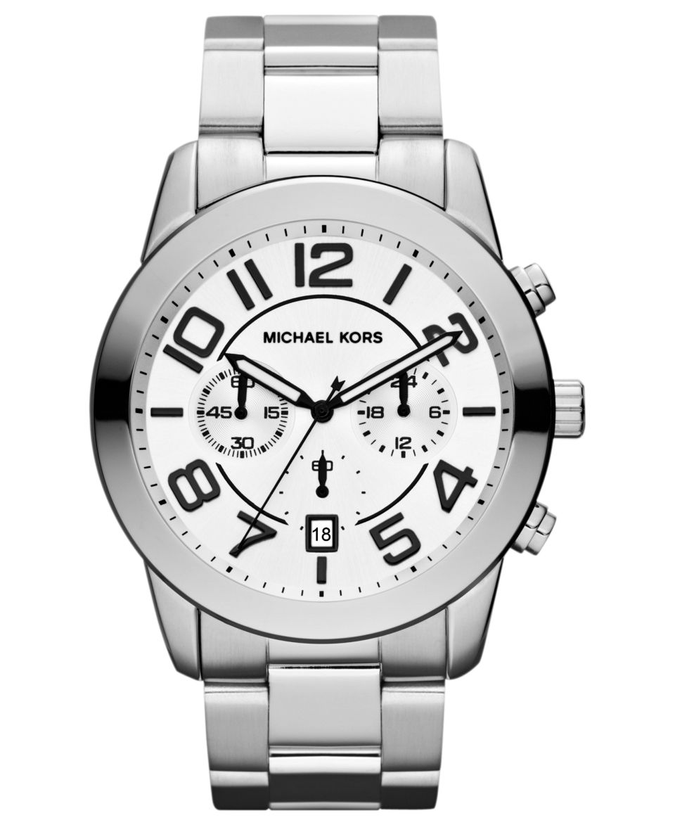 facbe57ba476 Michael Kors Mens Chronograph Channing Stainless Steel Bracelet Watch 43mm  MK8337 Watches Jewelry   Watches