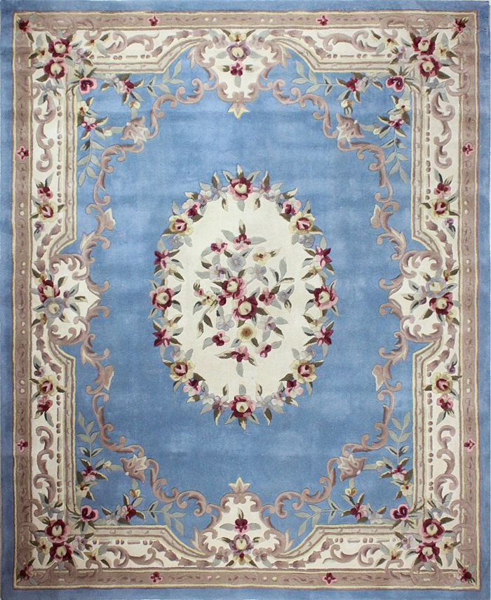 Km Home Palace Garden Aubusson Light Blue Area Rug Collection Reviews Furniture Macy S