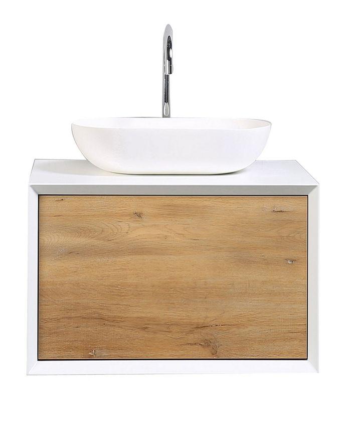 Eviva Piscis Bathroom Vanity With Integrated Porcelain Sink Reviews Furniture Macy S