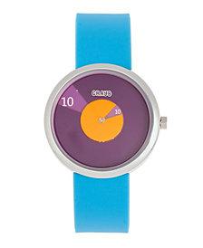 Crayo Unisex Pinwheel Light Blue Silicone Strap Watch 38mm