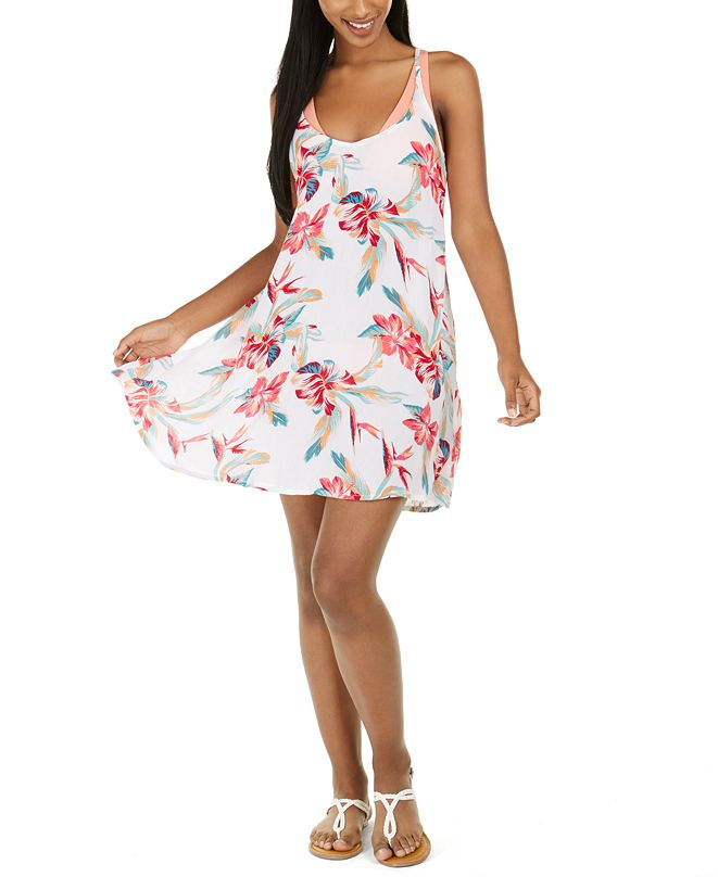 Roxy Juniors' Lahaina Bay Printed  Be in Love Cover-Up Dress
