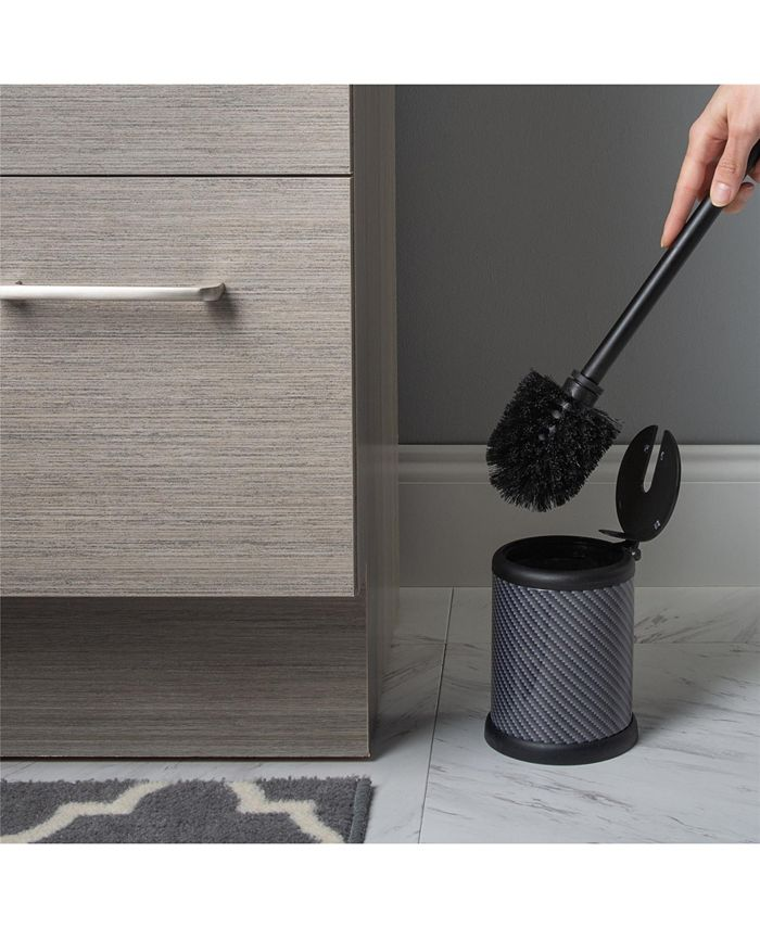 Bath Bliss - Self Closing Lid Toilet Brush and Holder