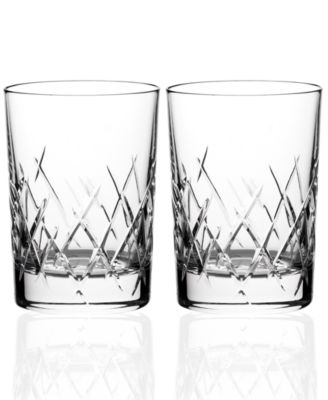 Vera Wang Wedgwood Set of 2 Duchesse Encore Double Old-Fashioned Glasses