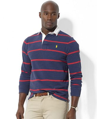 Polo ralph lauren big and tall shirt long sleeve stripe for Big and tall polo rugby shirts