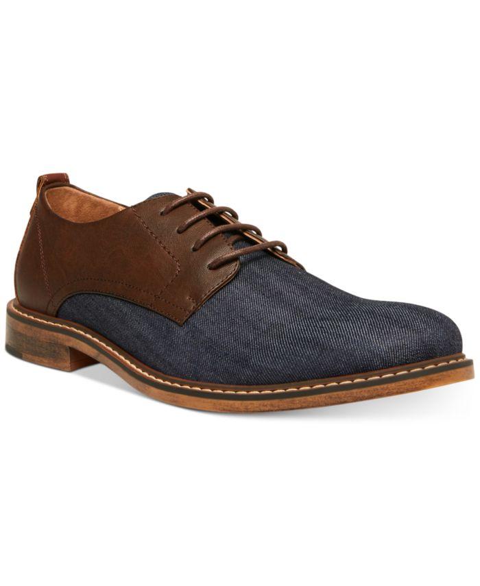 Steve Madden Men's Yeller Mixed-Media Casual Oxfords & Reviews - All Men's Shoes - Men - Macy's