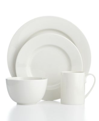 Martha Stewart Collection Kensington Whiteware 4-Piece Place Setting