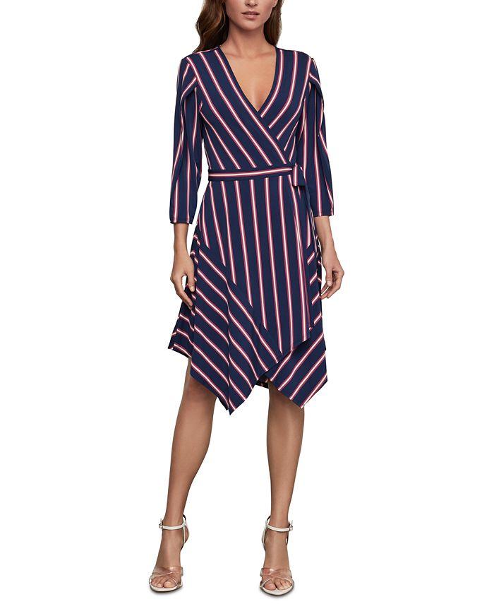 BCBGMAXAZRIA - Striped Wrap Dress