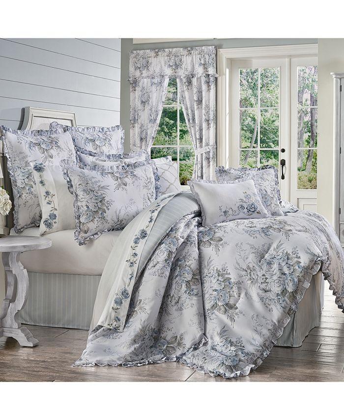 Royal Court - Estelle Blue California King 4pc. Comforter Set