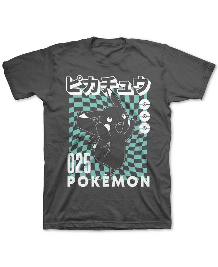Pokemon - Big Boys Pikachu Checker T-Shirt