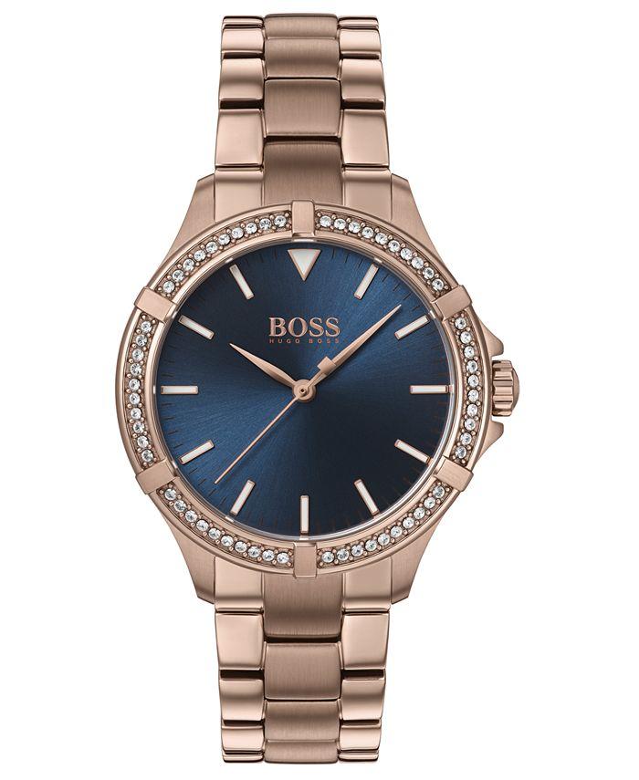 BOSS - Women's Mini Sport Carnation Gold-Tone Stainless Steel Bracelet Watch 32mm