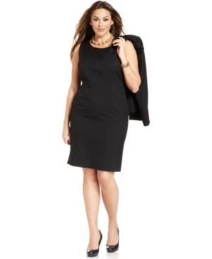 Le Suit Plus Size Dress, Sleeveless Washable Sheath plus size career dress,