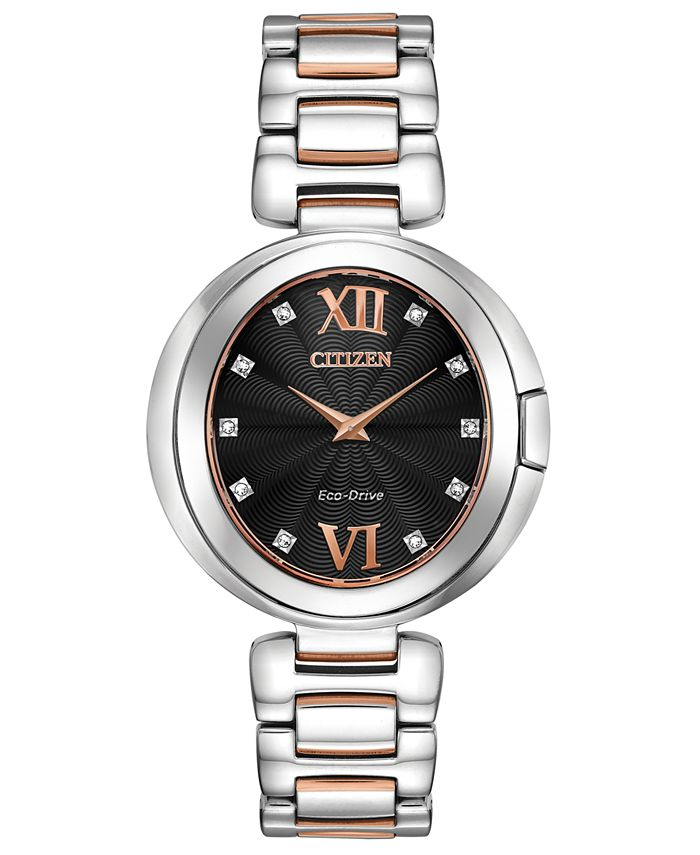 Citizen - Women's Capella Diamond-Accent Two-Tone Stainless Steel Bracelet Watch 34mm