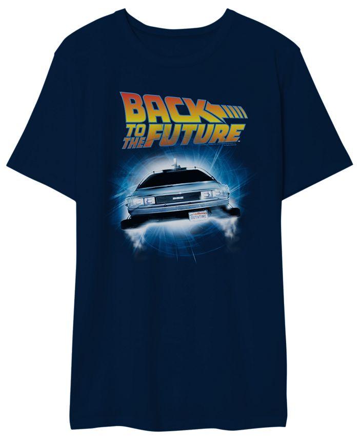 Hybrid - Back to the Future Men's Delorean Graphic Tshirt