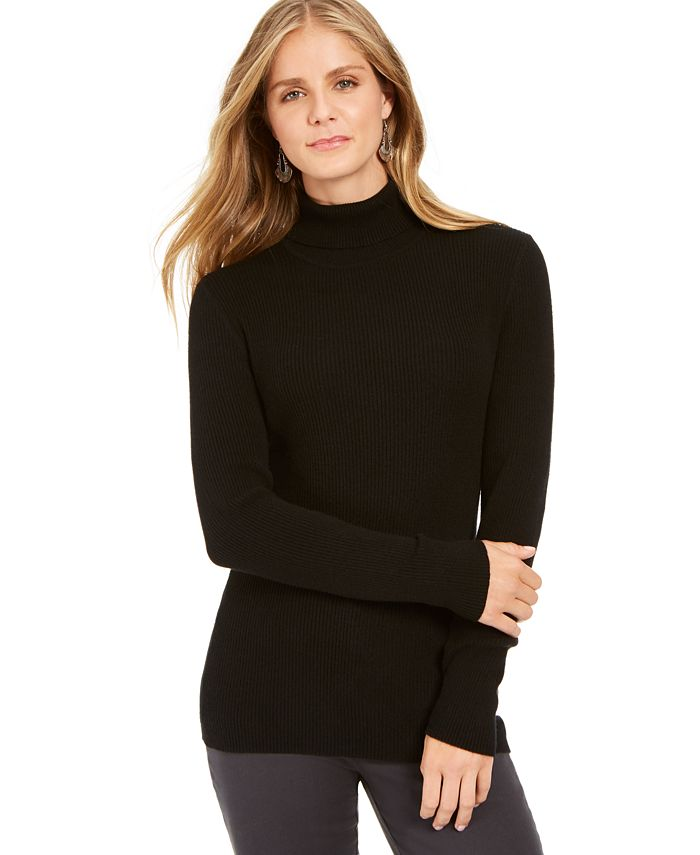 Style & Co - Ribbed Turtleneck Sweater