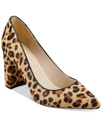 macy's leopard heels