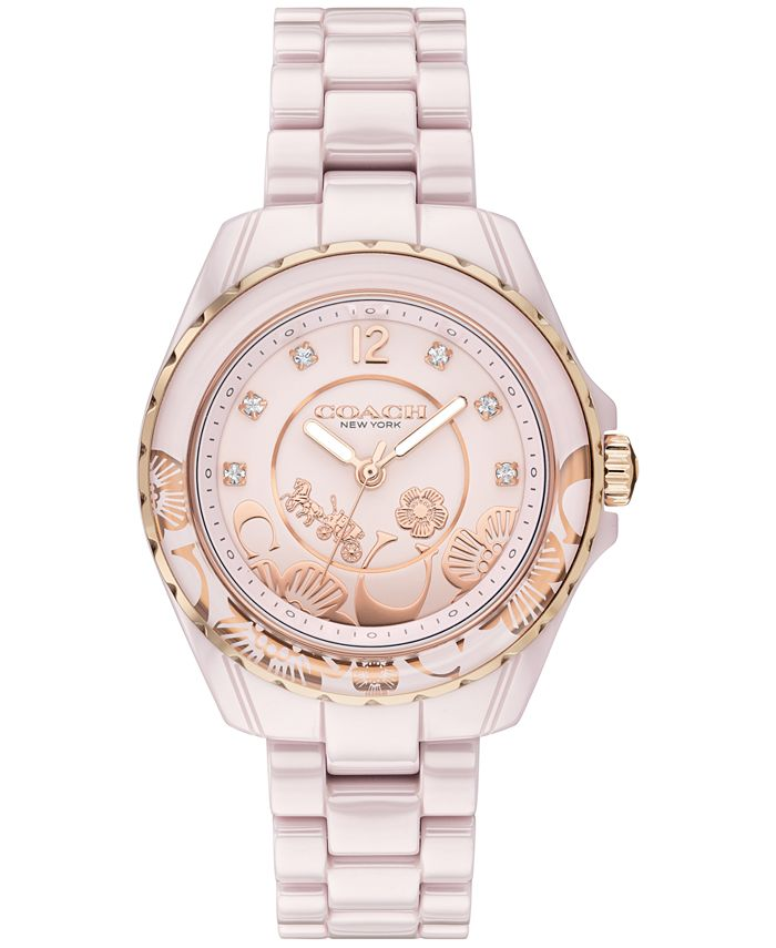 COACH - Women's Preston Blush Ceramic Bracelet Watch 32mm