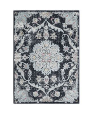"Comet COM03 Dark Blue 7'10"" x 10'2"" Area Rug"