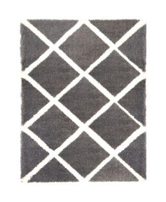 "Global Rug Design Riley RIL04 Dark Gray 3'9"" x 5'9"" Area Rug"
