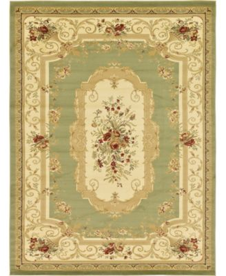 Belvoir Blv3 Green 6' x 6' Square Area Rug