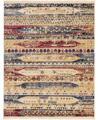 Borough Bor5 Multi 8' x 8' Square Area Rug