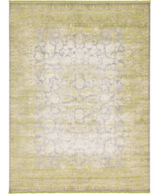 Norston Nor3 Light Green 4' x 6' Area Rug