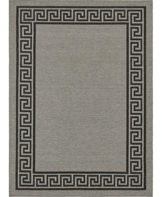 Pashio Pas6 Gray 6' x 6' Round Area Rug