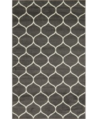 Plexity Plx2 Dark Gray 5' x 8' Area Rug