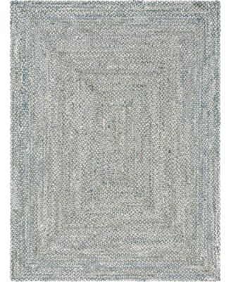 Roari Cotton Braids Rcb1 Gray 6' x 9' Area Rug