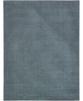 Salon Solid Shag Sss1 Slate Blue 4' x 6' Area Rug