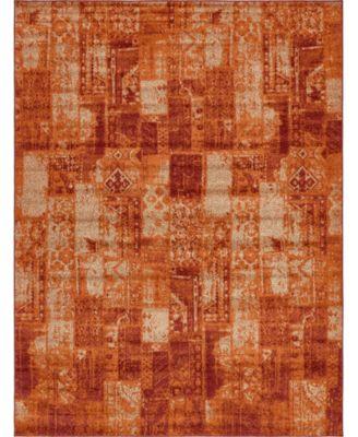 Jasia Jas07 Terracotta 5' x 8' Area Rug