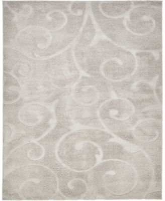 Malloway Shag Mal1 Light Gray 9' x 12' Area Rug