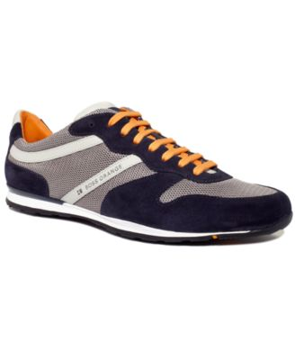 hugo boss sneakers orange silvans lace sneakers shoes. Black Bedroom Furniture Sets. Home Design Ideas