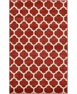 Arbor Arb1 Red 6' x 6' Round Area Rug