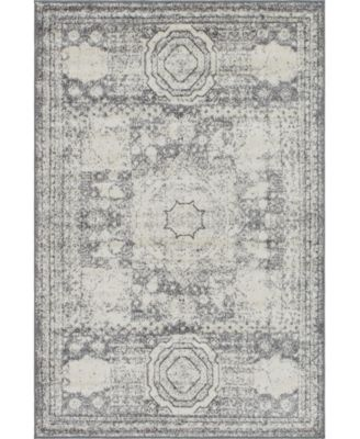 Mobley Mob2 Light Gray 8' x 8' Round Area Rug