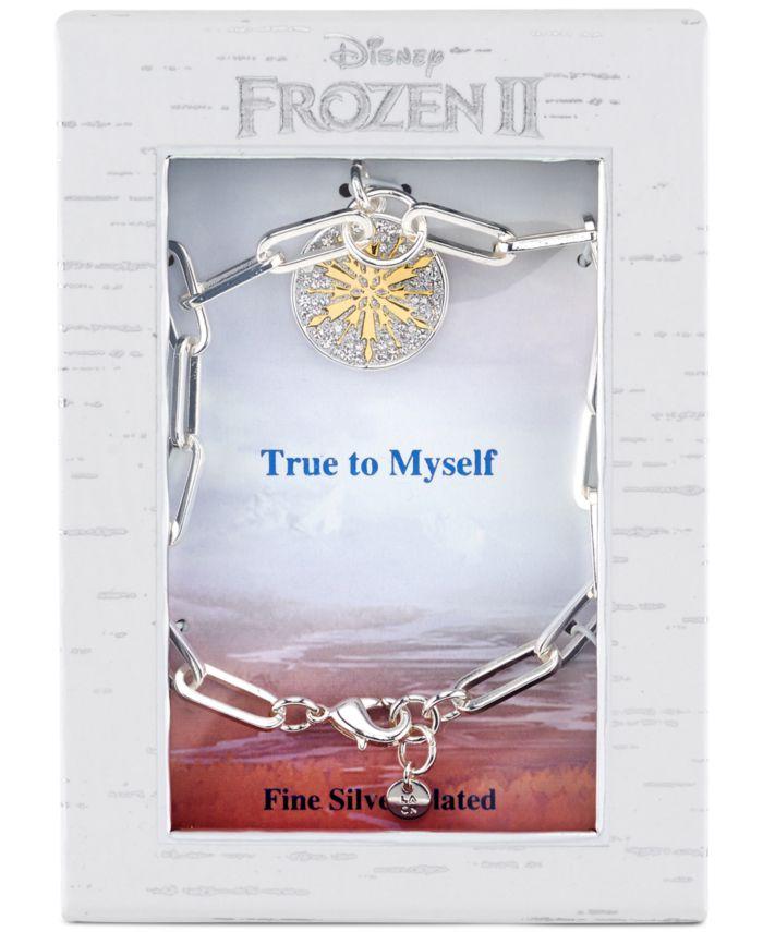 Disney Frozen 2 Link Bracelet in Two-Tone Fine Silver Plate & Reviews - Bracelets - Jewelry & Watches - Macy's