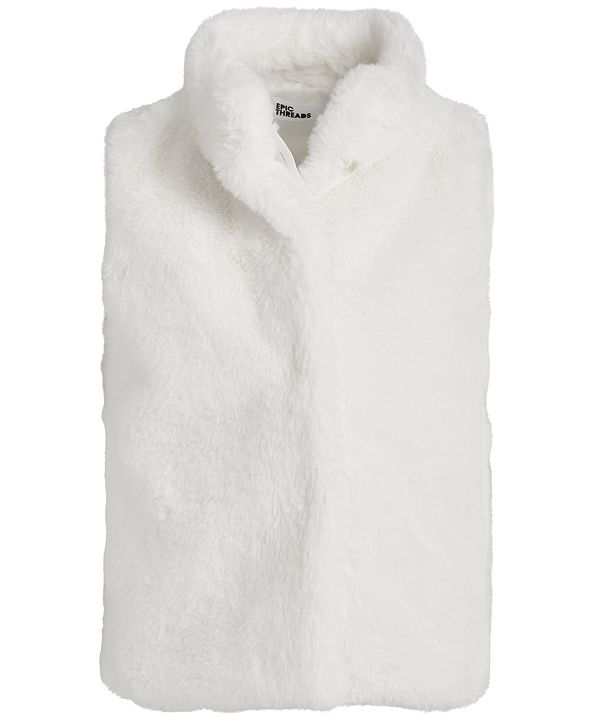 Epic Threads Little Girls Solid Faux Fur Vest
