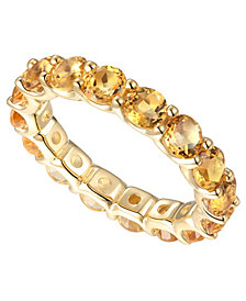 Amethyst Eternity Band (1/2 c.t. t.w.) in 14k Yellow Gold-Plated Sterling Silver(Also Available In Citrine, Multi, Blue Topaz, Rhodolite Garnet, and Lab Created Opal)