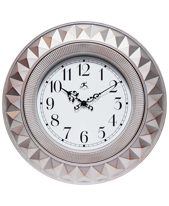 Infinity Instruments Round Decorative Wall Clock