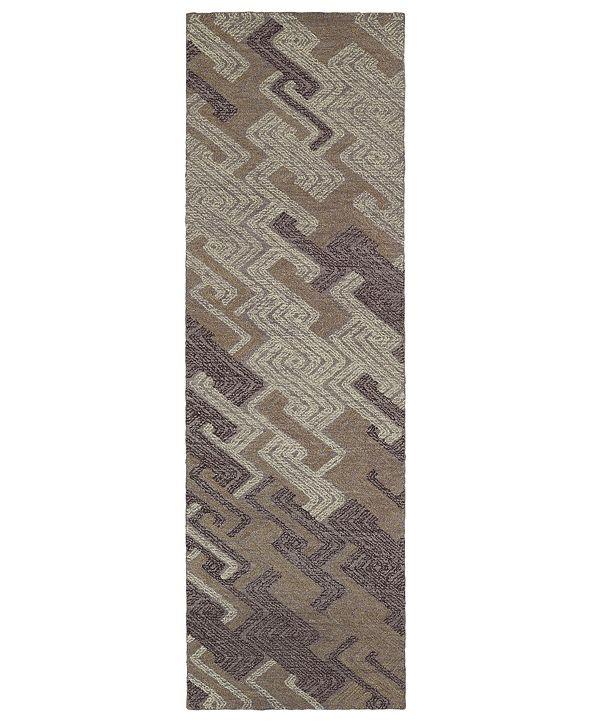 """Kaleen Ceneri CEN04-95 Purple 2'6"""" x 8' Runner Rug"""
