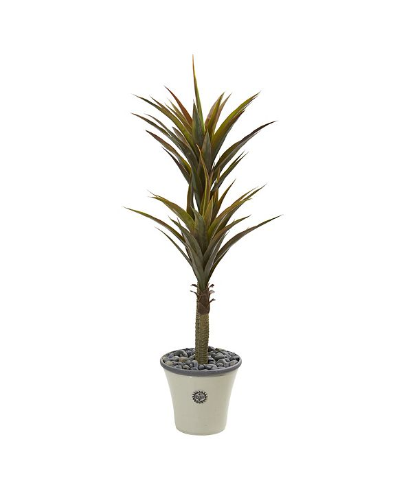 """Nearly Natural 62"""" Yucca Artificial Tree in Decorative Planter"""